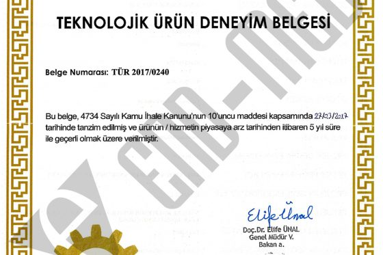 Technologic Product Experience Certificate
