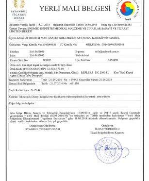 Refleks DC 2000 SL Decapper Domestic Product Certificate